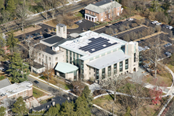 aerial view of the Princeton Theological Seminary Library