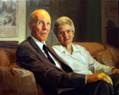 Portrait of Samuel H. and Eileen Moffett by Ewan McClure