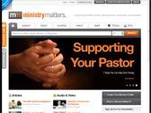 screen capture of the Ministry Matters website