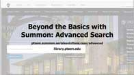 screen capture of Summon Advanced Search