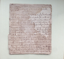Handwritten manuscript of a sermon preached by William Frazer, colonial New Jersey preacher, 1771