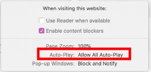 Safari - Allow all auto-play