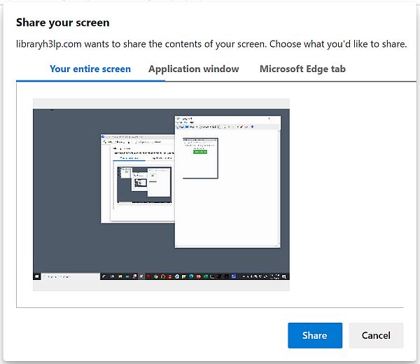Screensharing edge content selection
