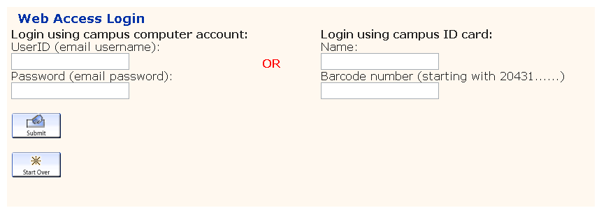 Web Access Login