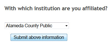 Link+ system asks with which institution are you affiliated, choose LMU in drop down and choose submit