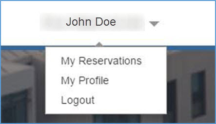Logged in user drop down options