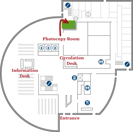 Photocopy room- building map