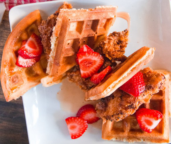 3. Skillet Fried Chicken and Waffles | Life 360 Tips