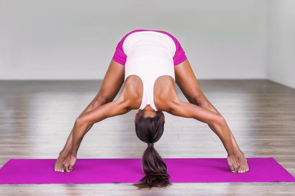 Wide Leg Forward Fold | Best Morning Yoga Poses For Beginners | Life360 Tips