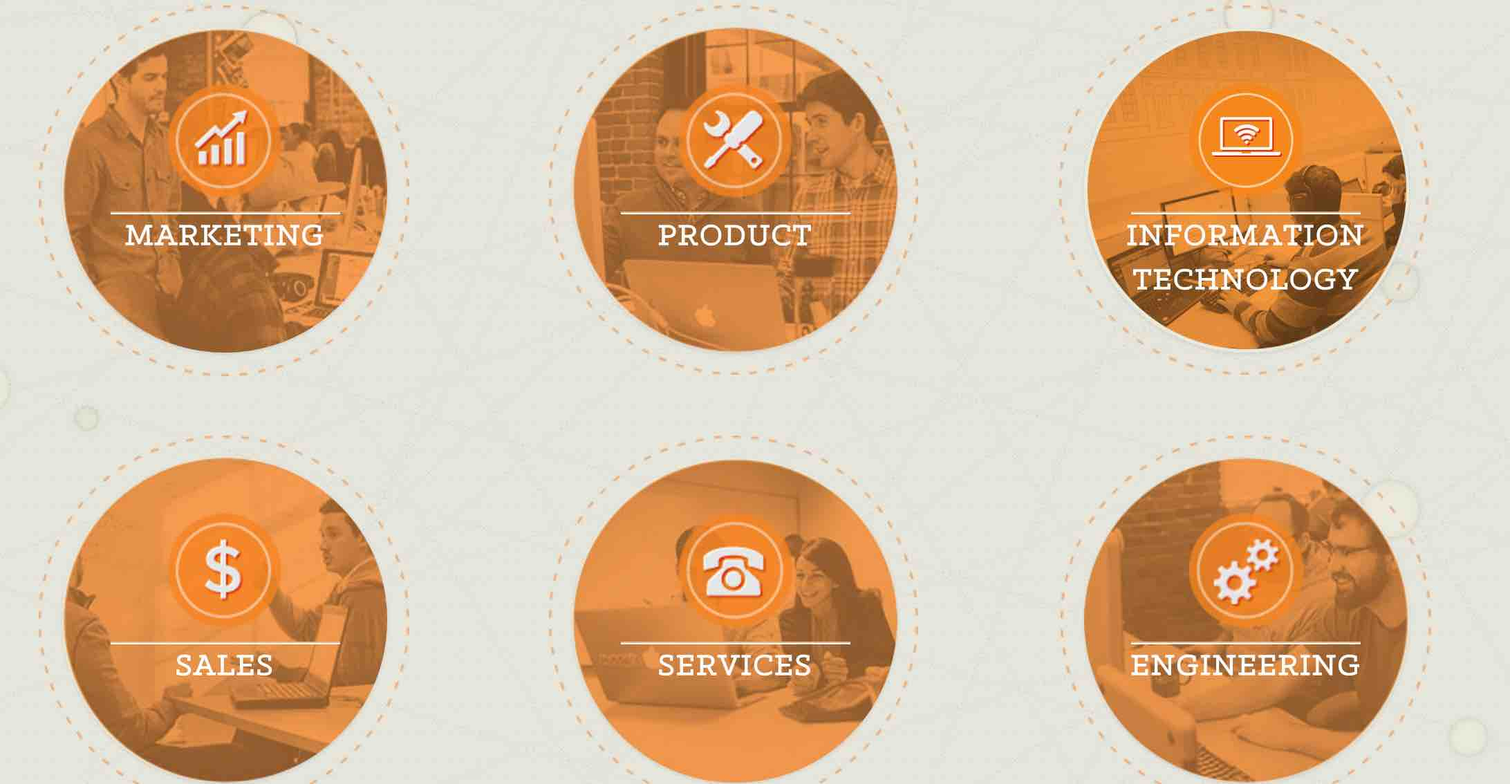 Hubspot's career site uses lots of content