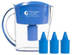 Pitcher of Life Alkaline Water Pitcher (With 3 replacement filters)-0