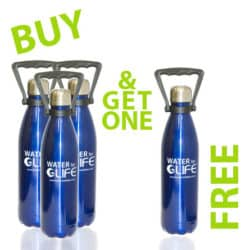 Water For Life Bottle - 750ml - Buy 3 get 1 FREE.-0