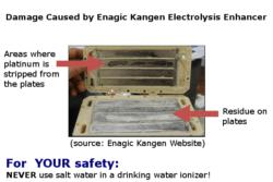 kangen water machine electrolysis enhancer damage infographic