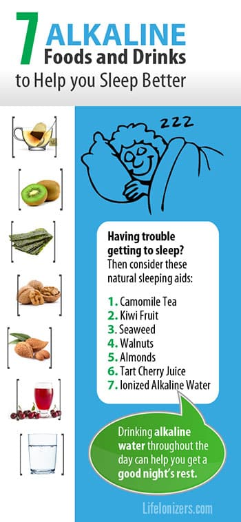 Alkaline Food & Water: A Better Sleep-Aid