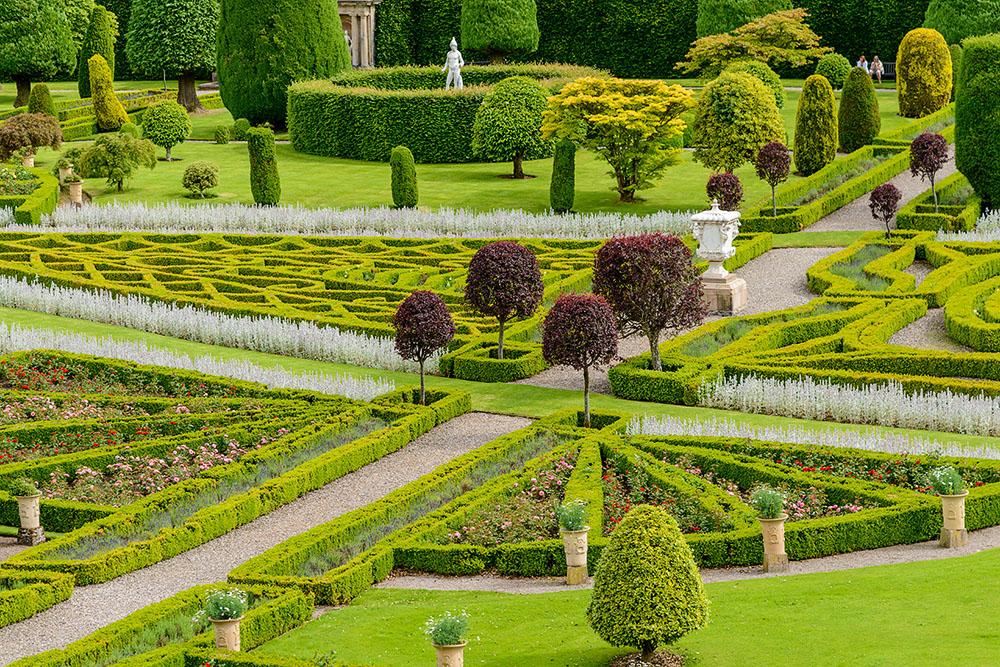 Drummond Castle in Perthshire, Scotland.