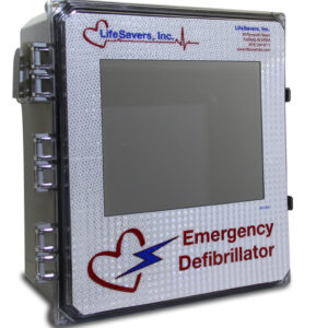 Outdoor AED Cabinet with Alarm | LifeSavers, Inc.
