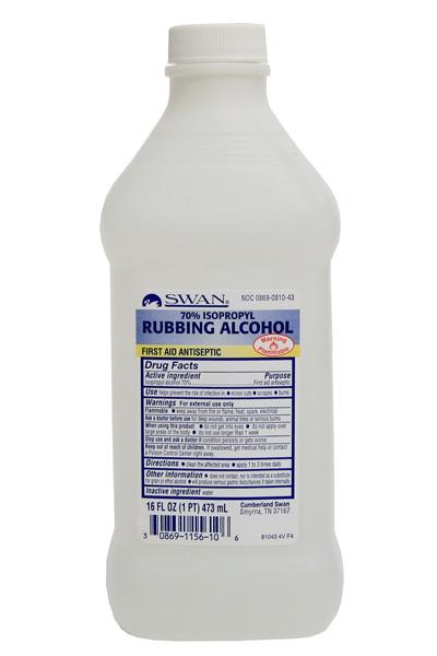 Rubbing Alcohol – 70% Isopropyl – 16oz  #221-005