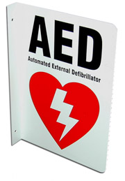 AED 2 way sign