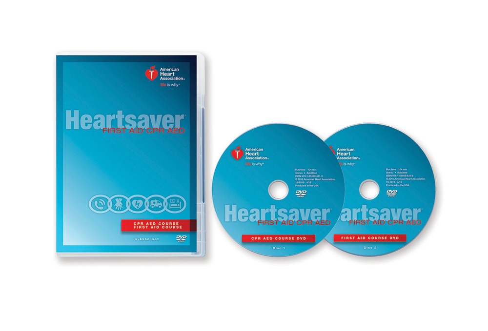 Heartsaver First Aid CPR AED Instructor DVD Set – 2015 Guidelines ...