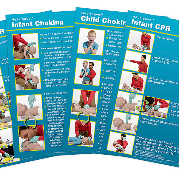 Heartsaver Child Infant Poster Pack 2015 Pk Of 8