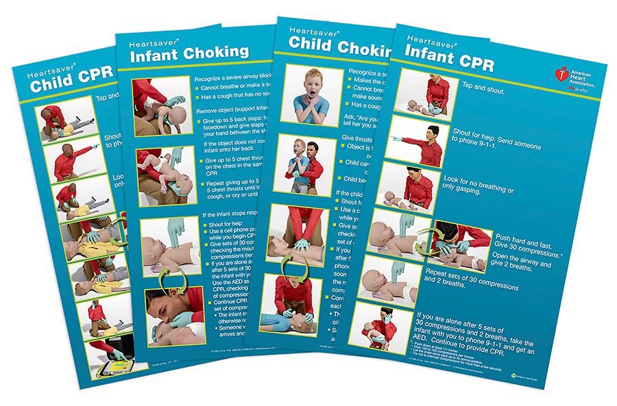 image relating to Cpr Posters Free Printable known as Heartsaver Kid Little one Poster Pack 2015 pk of 8