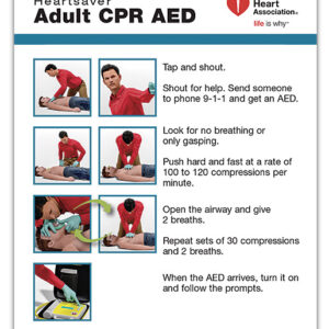 15-1024 Heartsaver Adult CPR AED Wallet Card