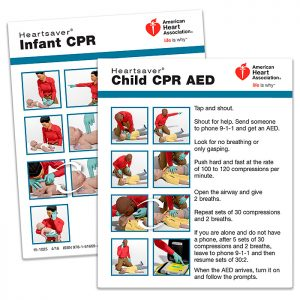 15-1025 Heartsaver Child And Infant CPR AED Wallet Card