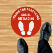 Social Distancing Floor Decal