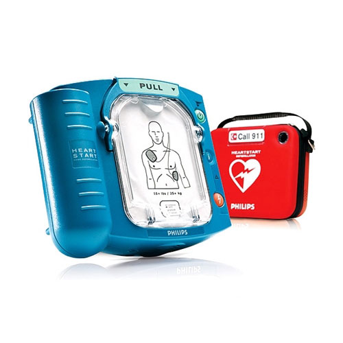 Philips AED Heart Start with Red Case