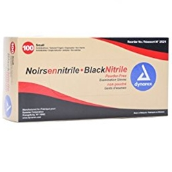 black nitrile gloves box