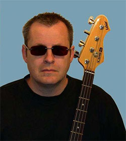 Paul with his bass guitar.