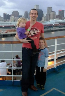Tom with his nephew and niece.