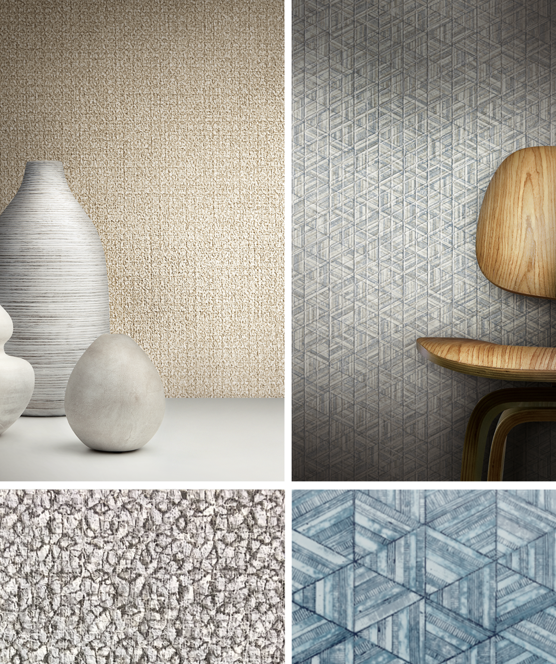 Product Shown: Stacy Garcia for York Wallcovering: Inlay and Aviary