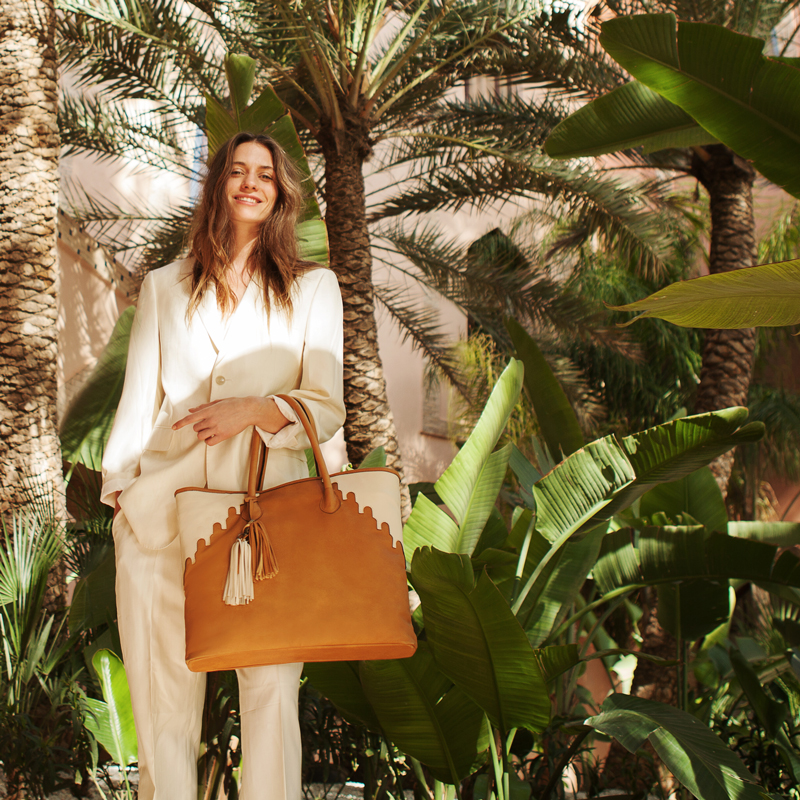 7def15465f7 Rabbia Camel Leather Shopper Tote Bag from ABURY  Photo by Suzana Holtgrave