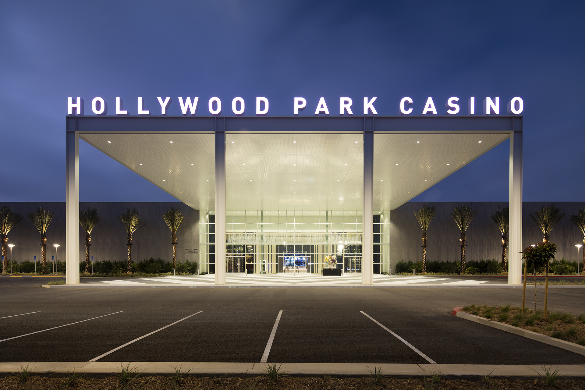 Hollywood Park Casino Entrance - Photo by Misha Bruk of Bruk studios