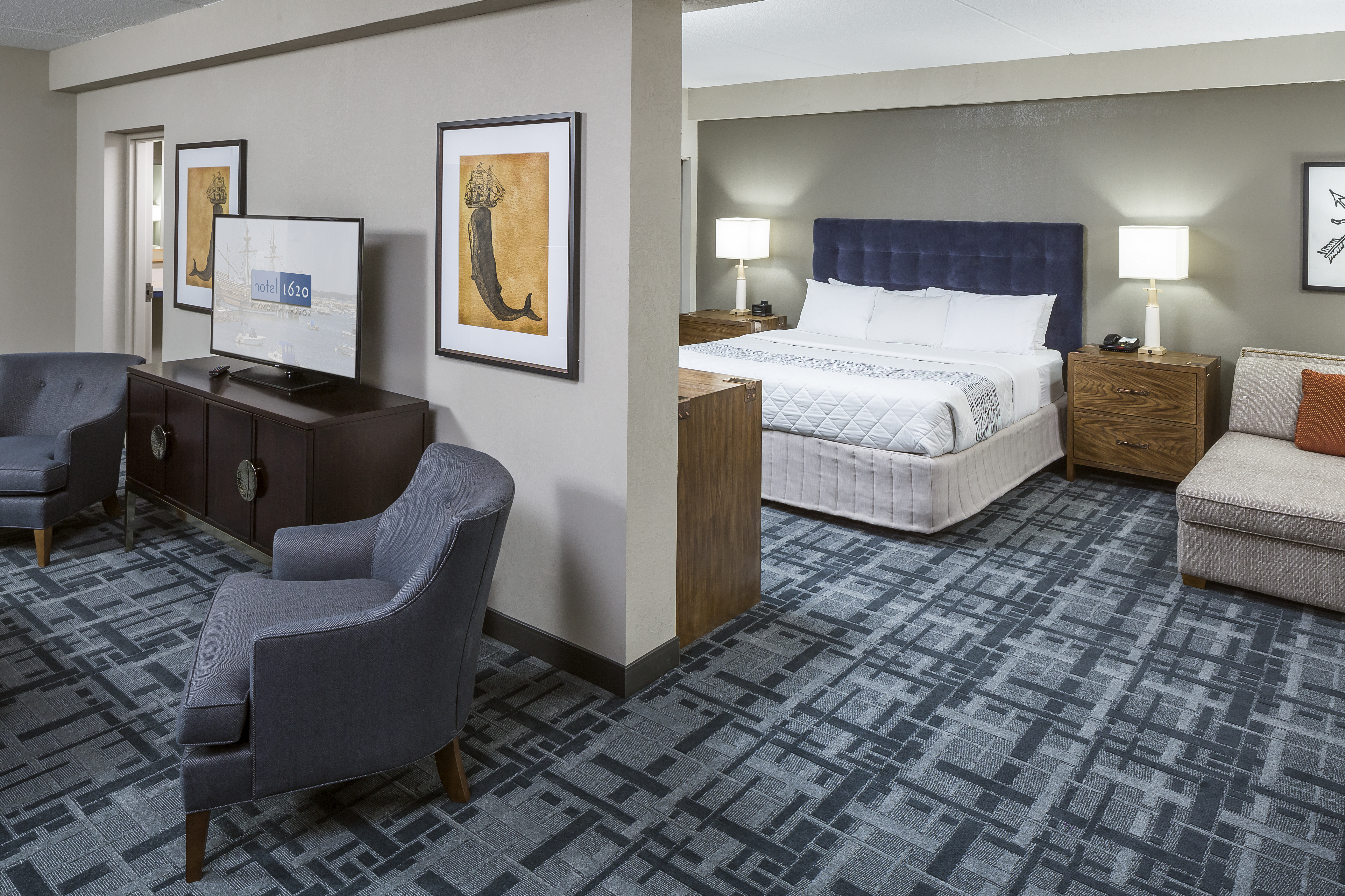 Hotel 1620 at Plymouth Harbor - Product shown: The Foundry Collection by Stacy Garcia for Bernhardt Hospitality