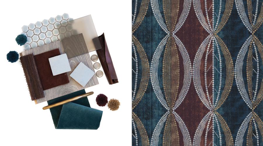 Left: Blue Suede Trend; Right: Retrospective Collection Pattern #77/J2451SG