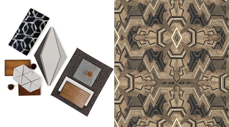 Left: Techni-Chrome Trend; Right: Retrospective Collection Pattern #5/N3011SG