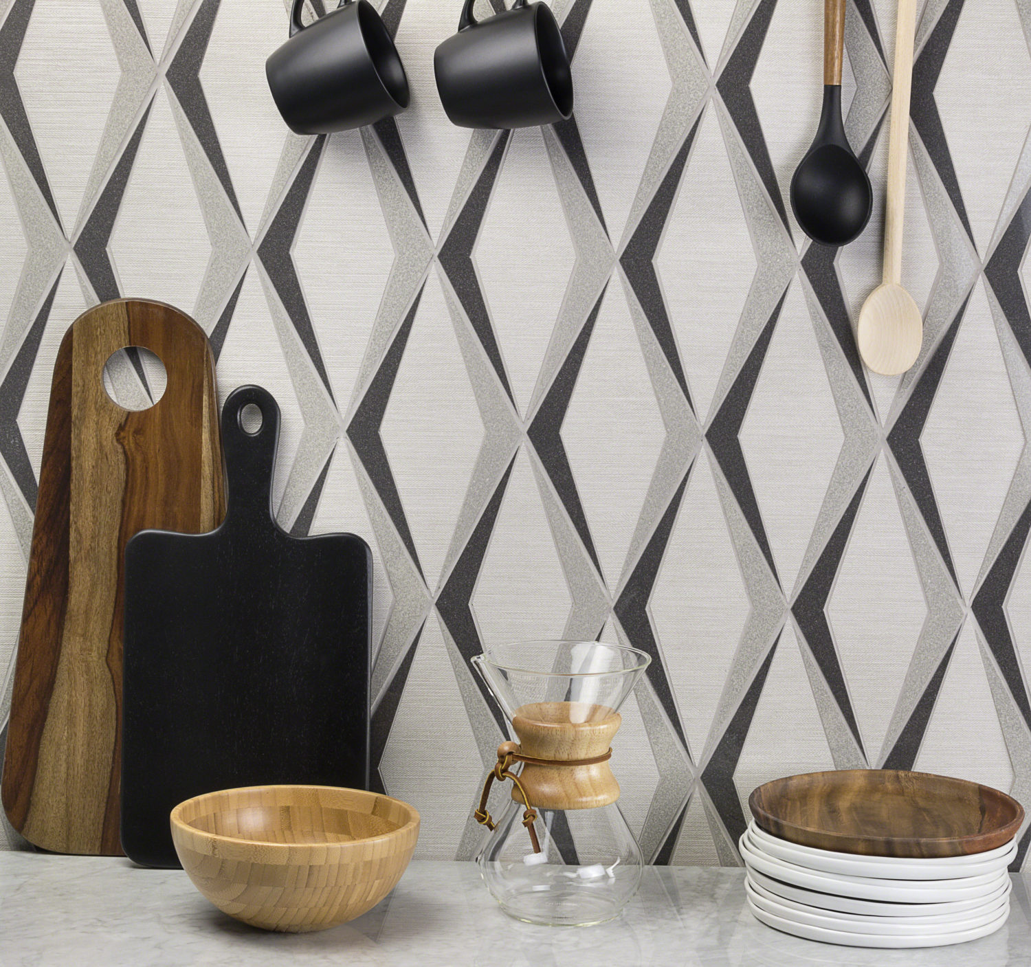 Best Ways to Use Tile - Ascot from the Gabardine Collection by Stacy Garcia │New York for TileBar - Life-Styled.net