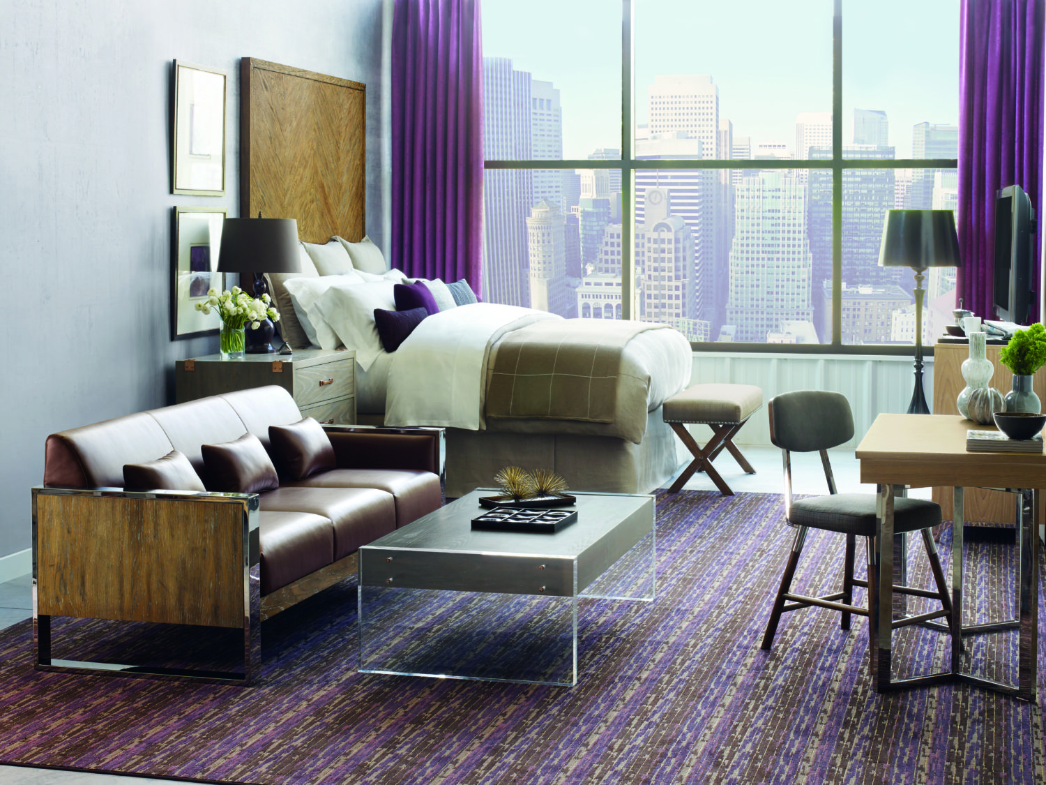 Guest Rom featuring Stacy Garcia Foundry Collection for Bernhardt Hospitality