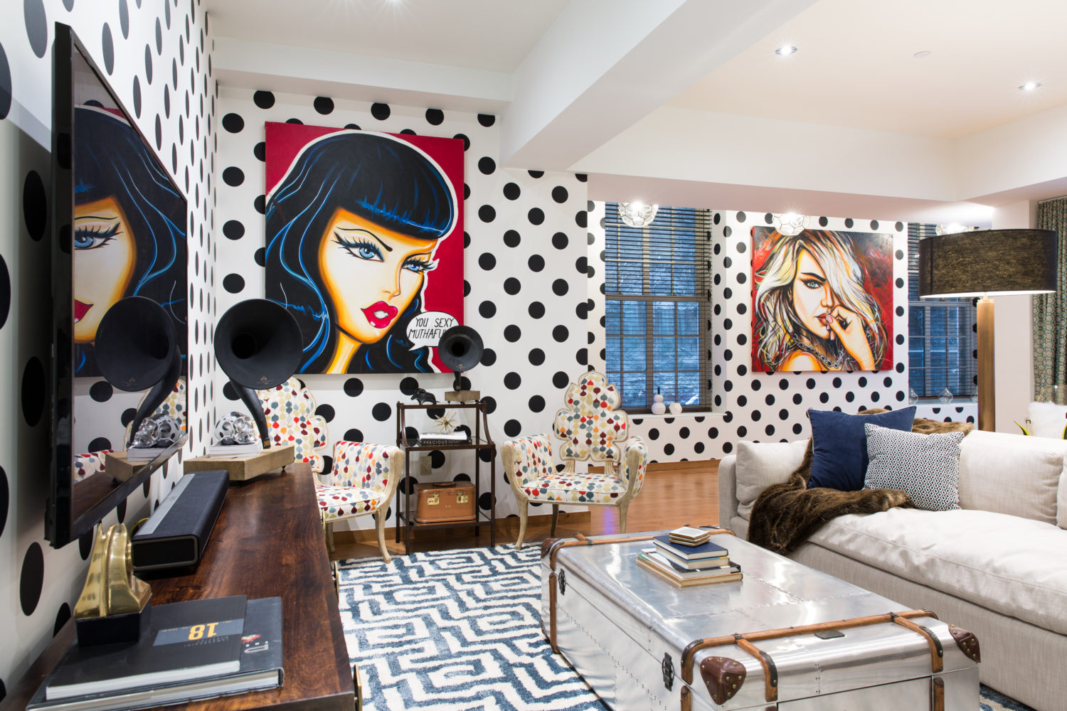 Washington Square Park Eclectic Home designed by Joe Human- Manhattan, NY