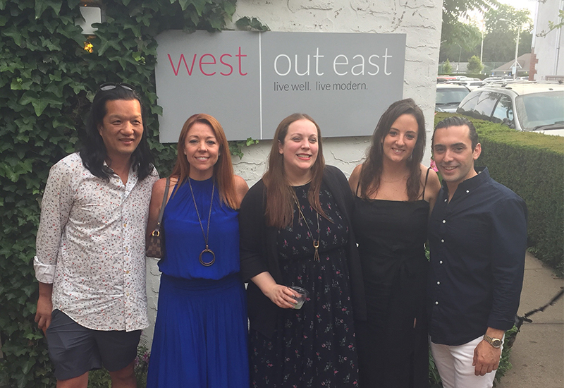 West, Owner of West Out East/West NYC Home. Cindy Allen, Editor in Chief of Interior Design. Jessica Salsiccia, West NYC Home Showroom Manager. Kim, Albert