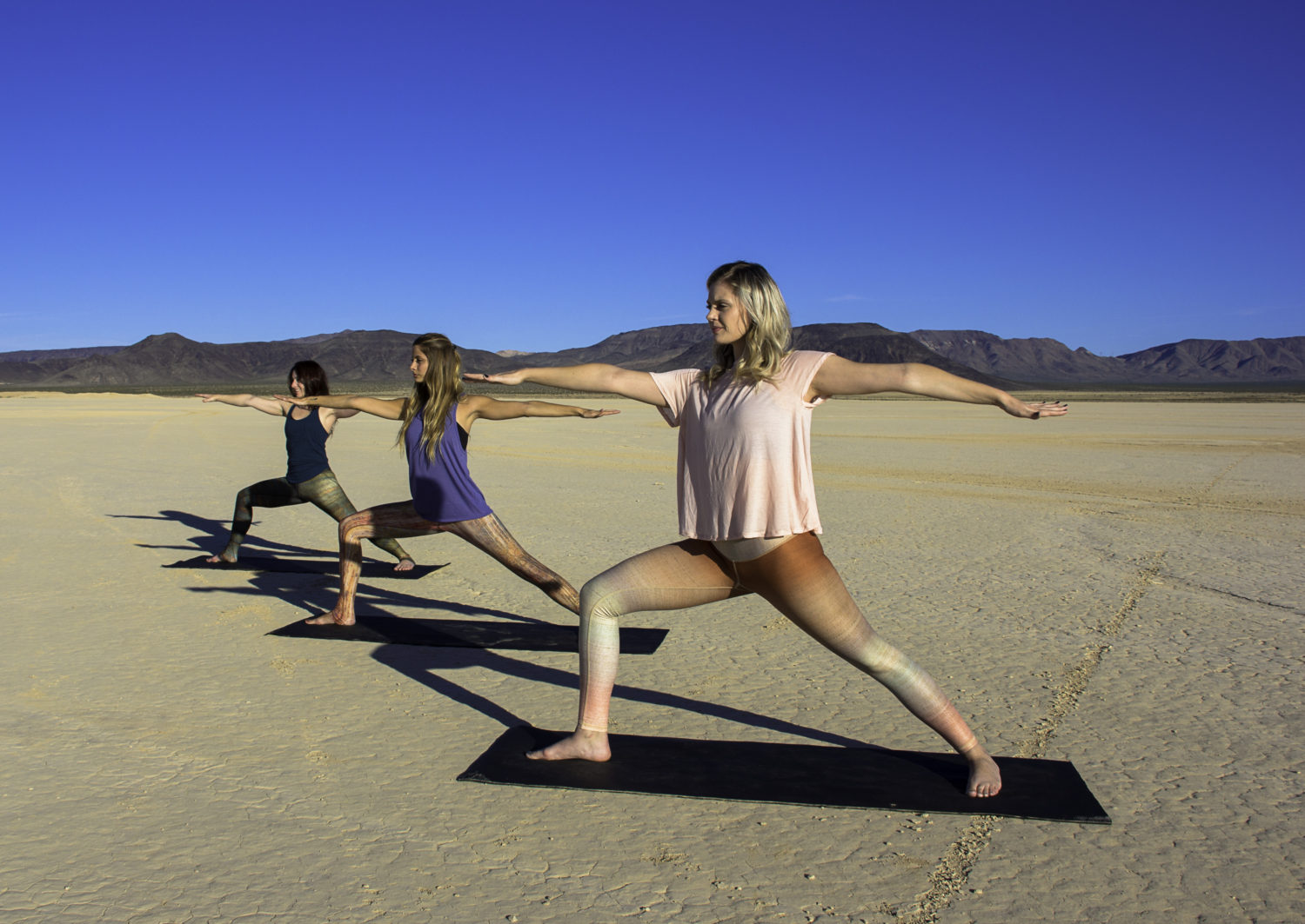 Sunrise and Solitude Yoga in the Dry Lake Beds