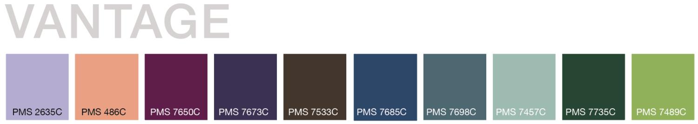 Vantage Trend Color Palette