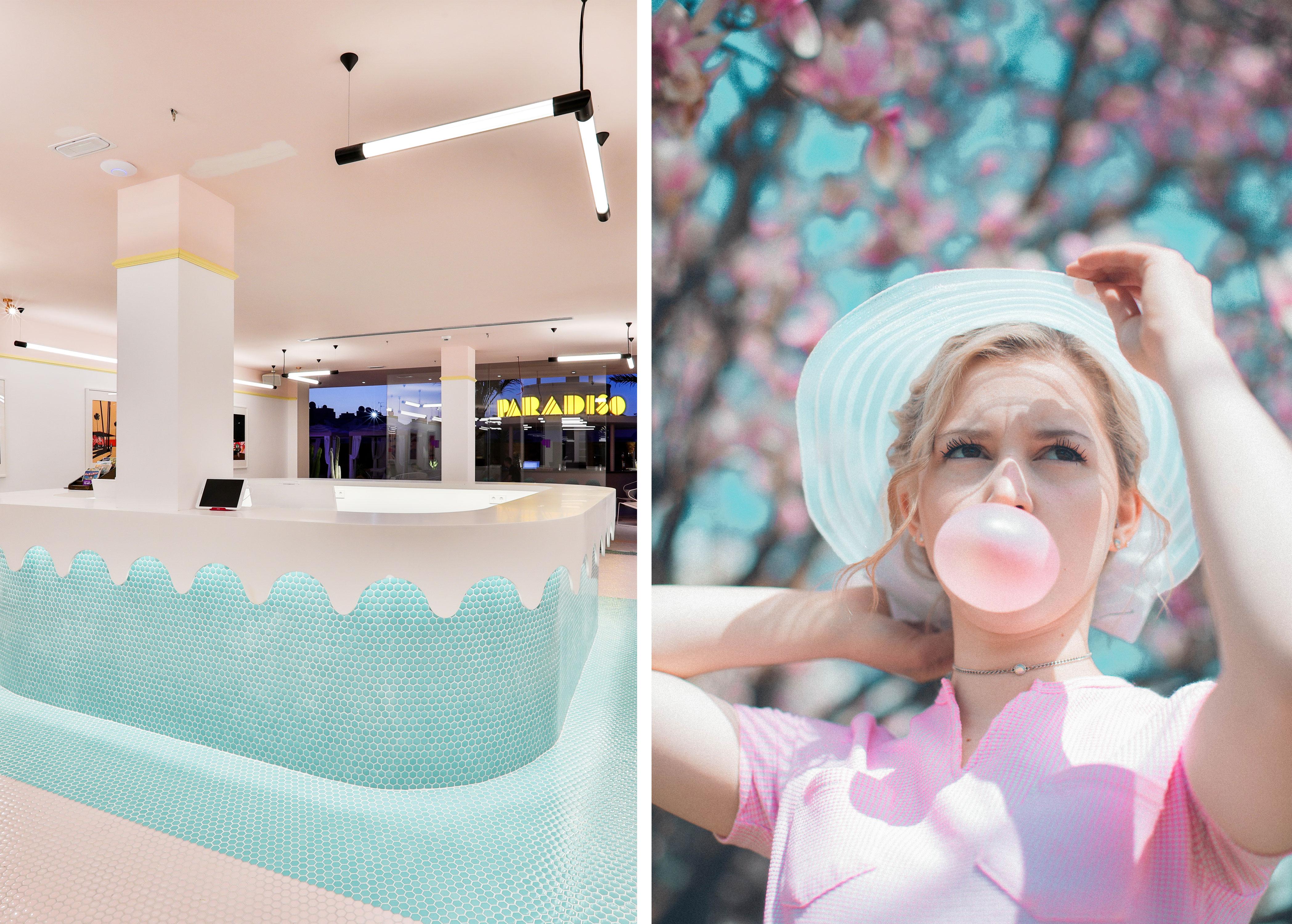 Left: Art Hotel Paradiso Ibiza Right: Nik Macmillan via unsplash