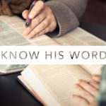 Know His Word | November 2019 Reading Plan