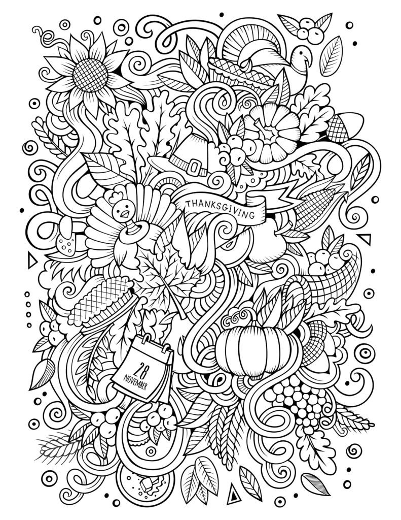 Thanksgiving Free To Color For Children Thanksgiving Kids