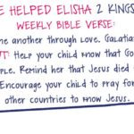Week of November 26-A Couple Helped Elisha-Social Media Plan