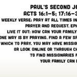 Week of August 12 – Paul's Second Journey – Social Media Plan