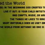 Week of September 2 – God Created the World – Social Media Plan